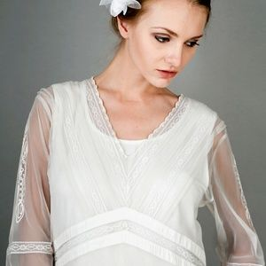 Ivory Nataya Titanic Inspired Wedding Dress SZ S